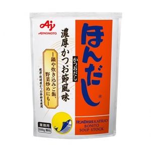 味の素 【「ほんだし® 」かつおだし500g袋×12】風味調味料(かつお)
