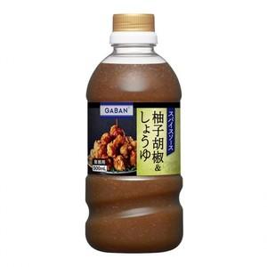 味の素【「GABAN®」スパイスソース柚子胡椒&しょうゆ 500ml×12】