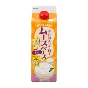 GSフード 【ムースベース・杏仁(スリムP) 500ml×12】ジーエスフード業務用喫茶材料
