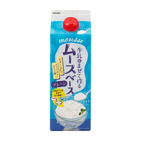 GSフード 【ムースベース・プレーン(スリムP) 500ml×12】ジーエスフード業務用喫茶材料