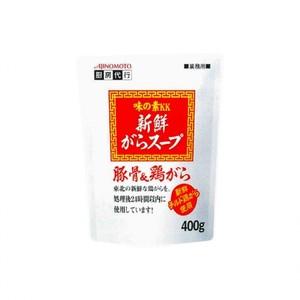 味の素【「味の素KK新鮮がらスープ」豚骨&鶏がら 400g袋×12】 業務用がらスープ